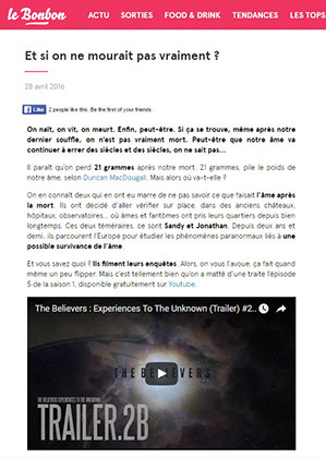the believers, article, presse, média, le bonbon,